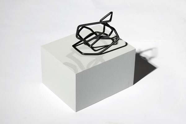A4 Scrunch 2009 powder-coated steel, pine, acrylic and cast shadow 22 x 20 x 16 cm